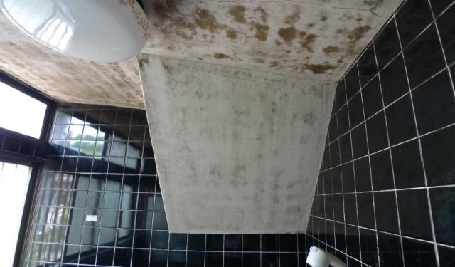 before:こちらがお悩みだった浴室内に大きく張り出した階段。