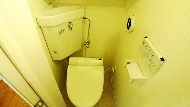 After:元々デッドスペースということもありスペースに余裕はありませんがこのトイレが玄関に近く、これまでわざわざ地階に行っていたことを思うと便利になったと満足頂いたようです。