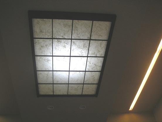 After:撤去されたお母様の和室の思い出として障子を加工して和モダンな照明を設置。