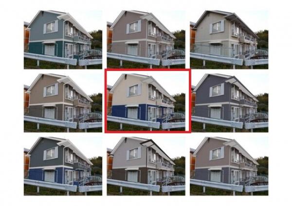ご用意した8種類のカラーシミュレーションから選んで頂いたのでほぼ最初のイメージどうりの仕上がりに!