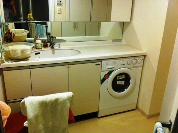 Before:ビルトイン洗濯機
