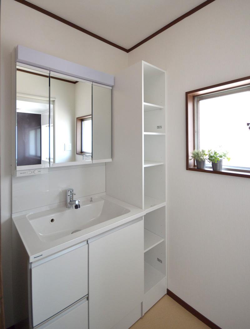 After:壁を移動して、広さを確保。お子様とお風呂に入る準備も可能になりました。
