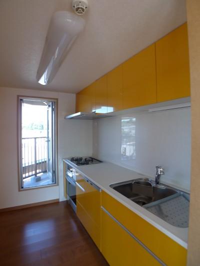after:奥様が一目ぼれしたオレンジカラーのキッチン
