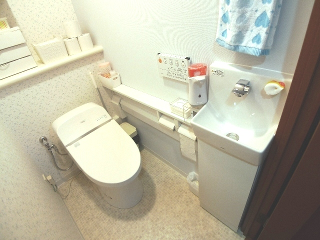 After:いつも清潔!カウンター付き手洗い器!