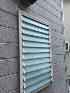 既存のルーバー窓