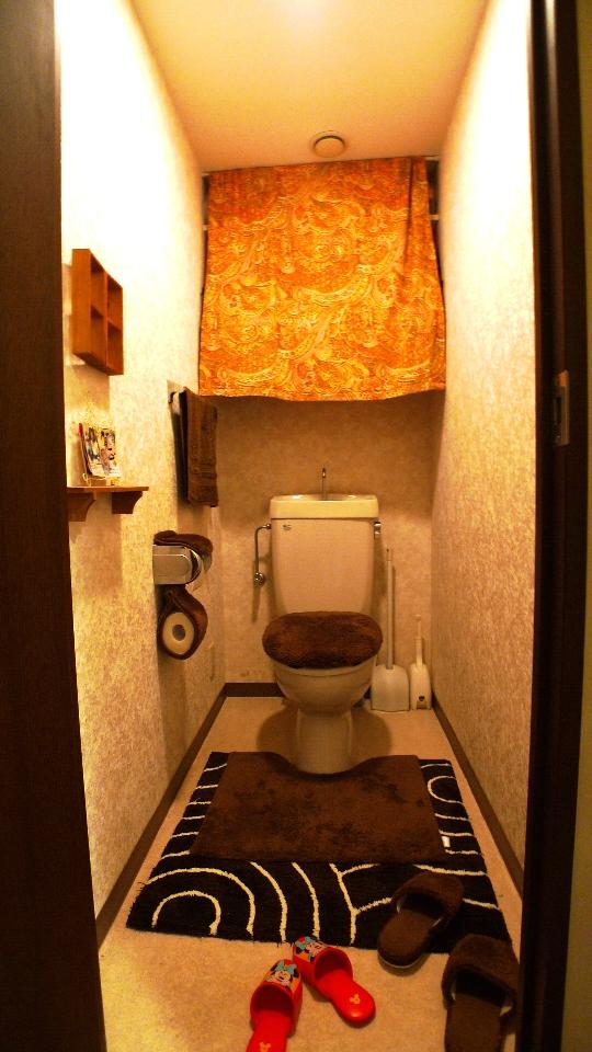 Before:長年使ってきたトイレもだんだん臭いや汚れが気になるように。工夫して手作りしていた収納も今回のリフォームで造り付のピッタリ収納を設置。