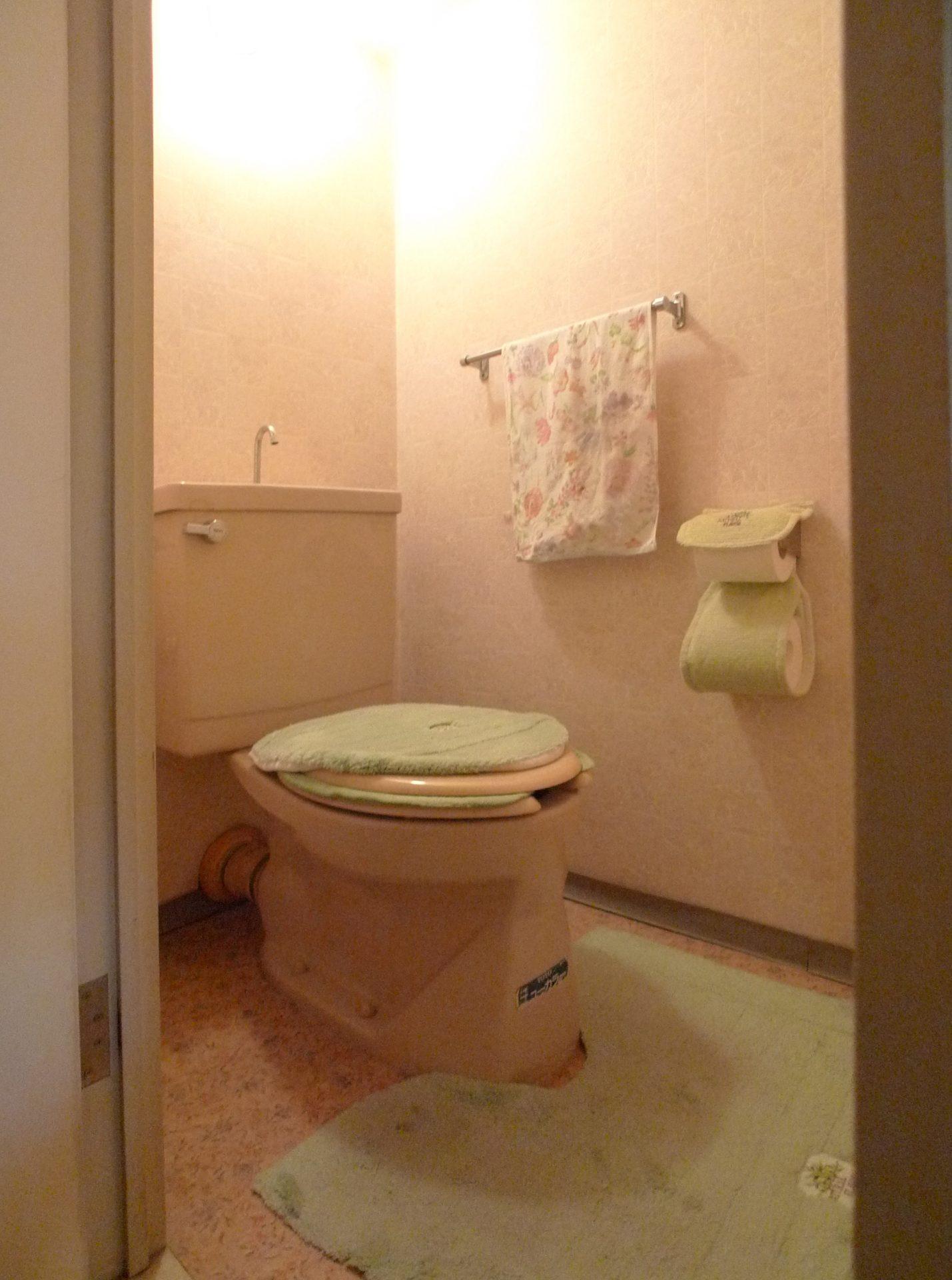 Before トイレのお掃除が大変、汚れがつきにくいトイレを希望でした。