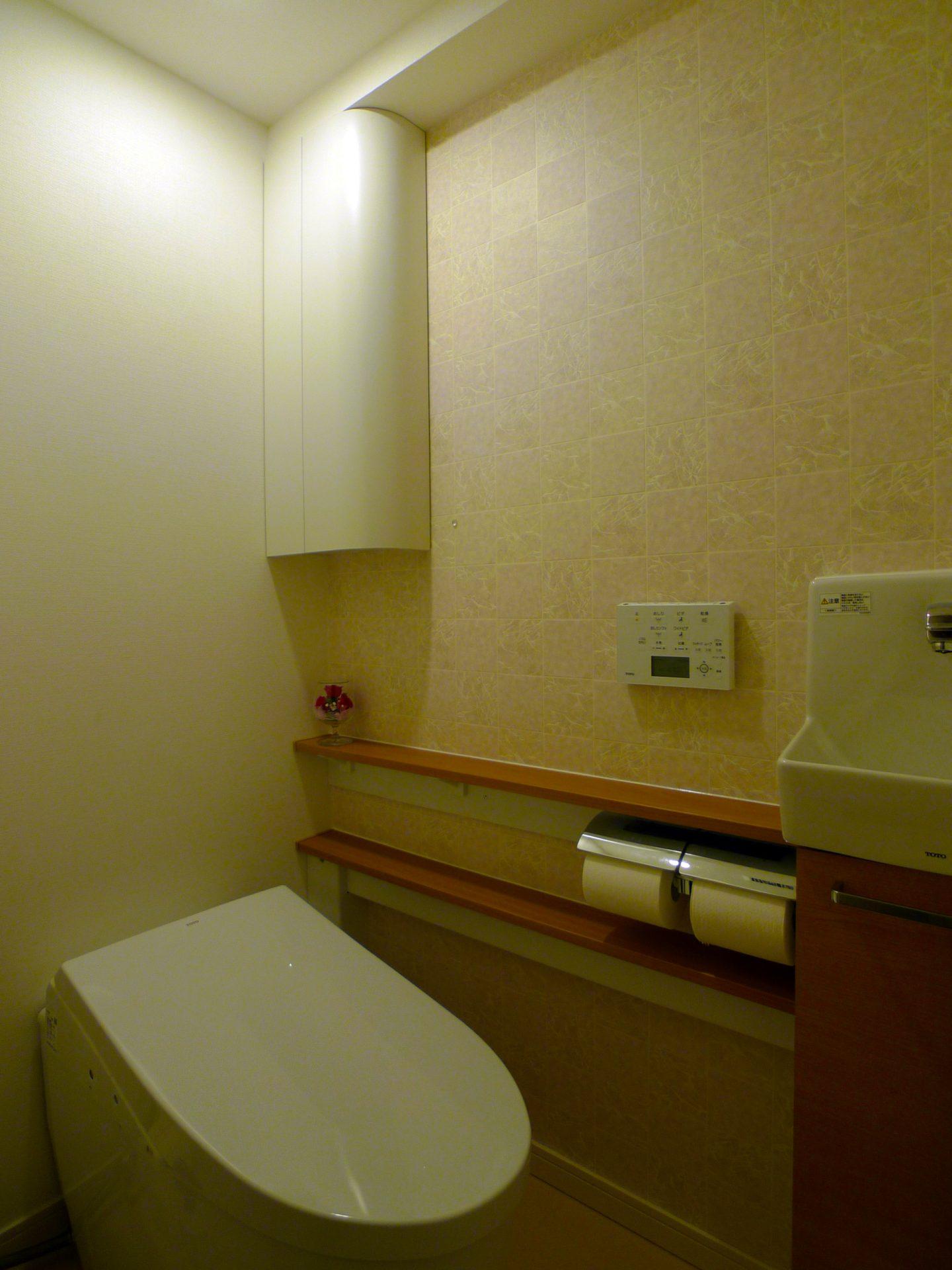 After ショールームのトイレ にひとめぼれ。