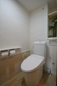 新しいトイレと新しい内装